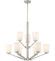Picture for category Nuvo Lighting 60/6249 Chandeliers Brushed Nickel Steel Nome
