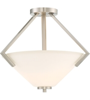 Picture for category Nuvo Lighting 60/6251 Semi Flush Brushed Nickel Steel Nome