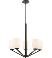 Picture for category Nuvo Lighting 60/6346 Chandeliers Mahogany Bronze Steel Nome