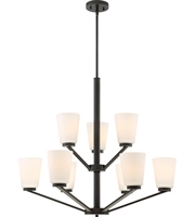 Picture for category Nuvo Lighting 60/6349 Chandeliers Mahogany Bronze Steel Nome