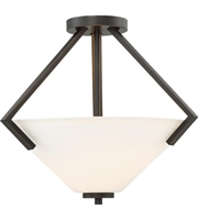 Picture for category Nuvo Lighting 60/6351 Semi Flush Mahogany Bronze Steel Nome