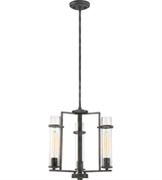 Picture for category Nuvo Lighting 60/6383 Chandeliers Iron Black Steel Donzi
