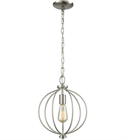 Picture for category Thomas CN15712 Williamsport Pendants 11in Brushed Nickel 1-light