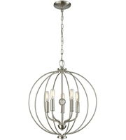 Picture for category Thomas CN15752 Williamsport Chandeliers 19in Brushed Nickel 5-light
