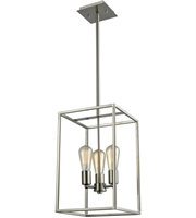 Picture for category Thomas CN15832 Williamsport Chandeliers 10in Brushed Nickel 3-light