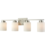 Picture for category Thomas CN579412 Summit Place Bath Lighting 29in Brushed Nickel 4-light