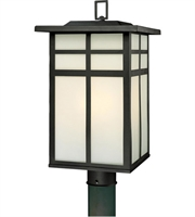Picture for category Thomas SL90067 Mission Outdoor Post Light 11in Black 3-light