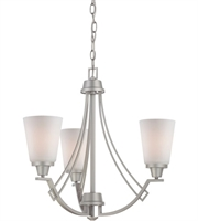 Picture for category Thomas TK0010117 Wright Chandeliers 22in Matte Nickel 3-light