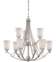 Picture for category Thomas TK0012117 Wright Chandeliers 33in Matte Nickel 9-light