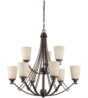 Picture for category Thomas TK0012704 Wright Chandeliers 33in Espresso 9-light