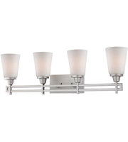 Picture for category Thomas TV0010117 Wright Wall Sconces 32in Matte Nickel 4-light