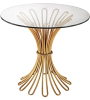 Picture for category Dimond Home 1114-204 Tables Gold Leaf Metal Glass Flaired Rope