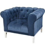 Picture for category Dimond Home 1204-002 Chairs Nay Blue Stainless Steel Foam Velet Fabric Sophie