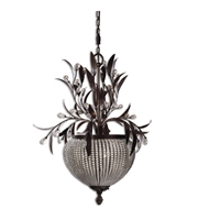 Picture for category Chandeliers 3 Light With Golden Bronze Finish Brass Metal Glass Material 27 inch 180 Watts