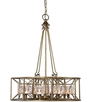 Picture for category Pendants 8 Light With Silver Swedish Iron Finish Iron Glass Material 25 inch 320 Watts