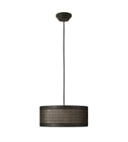 Picture for category Pendants 3 Light With Semi Matte Black Finish Metal Fabric Glass Material 22 inch 180 Watts