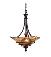 Picture for category Pendants 3 Light With Oil Rubbed Bronze Finish Metal Glass Resin Material 22 inch 300 Watts