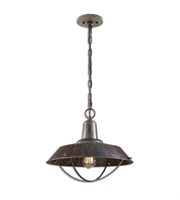 Picture for category Pendants 1 Light With Bronze Finish Metal Material Carolyn Kinder 17 inch 100 Watts