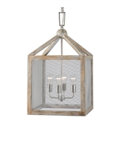 Picture for category Pendants 4 Light With Wood Finish Metal Material Carolyn Kinder Designer 16 inch 240 Watts