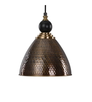 Picture for category Pendants 1 Light With Antique Brass Finish Matthew Williams Metal 12 inch 100 Watts