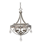 Picture for category Pendants 5 Light With Burnished Silver Champagne Leaf Finish Iron K9 Crystal Material 21 inch 300 Watts
