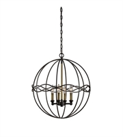 Picture for category Pendants 4 Light With Dark Bronze And Antique Brass Finish Iron Material 20 inch 240 Watts
