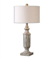 Picture for category Table Lamps 1 Light With Aged Dark Pecan Finish Resin Fabric Material 31 inch 150 Watts