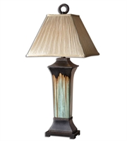 Picture for category Table Lamps 1 Light With Green and Metallic Brown Porcelain Body Finish Ceramic and Metal Material 37 inch 150 Watts
