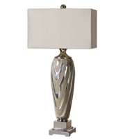 Picture for category Table Lamps 1 Light With Textured Ceramic  Finish Metal Ceramic Fabric Material 38 inch 150 Watts