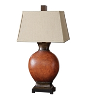 Picture for category Table Lamps 1 Light With Burnished Dark Red Finish Metal Ceramic Resin Material 35 inch 150 Watts