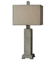 Picture for category Table Lamps 1 Light With Brushed Aluminum Finish Metal Concrete Material 33 inch 150 Watts