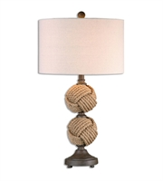 Picture for category Table Lamps 1 Light With Rust Brown Finish Metal and Rope Material 29 inch 150 Watts