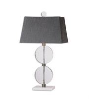 Picture for category Table Lamps 1 Light With Polished Nickel Finish Marble Crystal Metal Material 33 inch 150 Watts