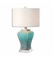 Picture for category Table Lamps 1 Light With Brushed Aluminum Finish Metal Glass Crystal Material 25 inch 150 Watts
