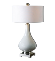 Picture for category Table Lamps 1 Light With White Finish Ceramic Metal Fabric Material 30 inch 100 Watts