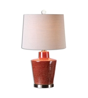 Picture for category Table Lamps 1 Light With Brick Red Finish Metal Ceramic Material 28 inch 150 Watts