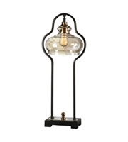 Picture for category Desk Lamps 1 Light With Aged Black Metal Resin and Glass Shade 29 inch 60 Watts