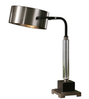Picture for category Desk Lamps 1 Light With Antiqued Brushed Aluminum Finish Metal Crystal Material 23 inch 100 Watts