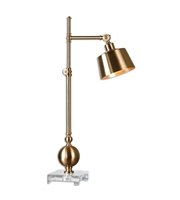 Picture for category Desk Lamps 1 Light With Brushed Brass Finish Metal Crystal Material 33 inch 40 Watts