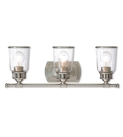 Picture for category Livex Lighting 10513-91 Bath Lighting Brushed Nickel Steel Lawrenceille