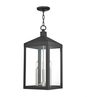 Picture for category Livex 20587-04 Outdoor Pendant Black Solid Brass Nyack