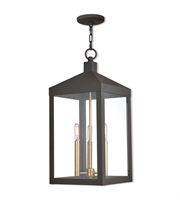 Picture for category Livex 20587-07 Outdoor Pendant Bronze Solid Brass Nyack