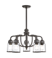 Picture for category Livex Lighting 40025-07 Chandeliers Bronze Steel Lawrenceille