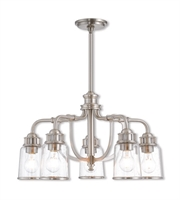 Picture for category Livex Lighting 40025-91 Chandeliers Brushed Nickel Steel Lawrenceille