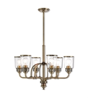 Picture for category Livex Lighting 40026-01 Chandeliers Antique Brass Steel Lawrenceille