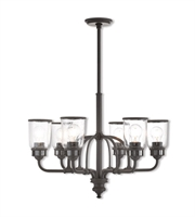 Picture for category Livex Lighting 40026-07 Chandeliers Bronze Steel Lawrenceille