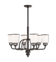 Picture for category Livex Lighting 40027-07 Chandeliers Bronze Steel Lawrenceille
