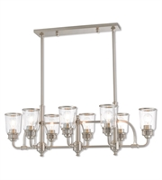 Picture for category Livex Lighting 40028-91 Island Lighting Brushed Nickel Steel Lawrenceille