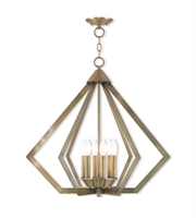 Picture for category Livex Lighting 40926-01 Chandeliers Antique Brass Steel 6-light