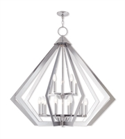 Picture for category Livex Lighting 40928-05 Pendants Polished Chrome Steel 10-light